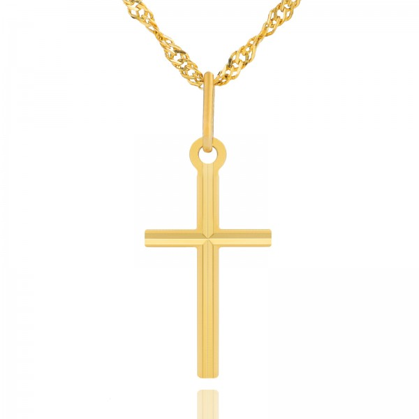 Komplet biżuterii złotej na prezent na komunię od chrzestnego