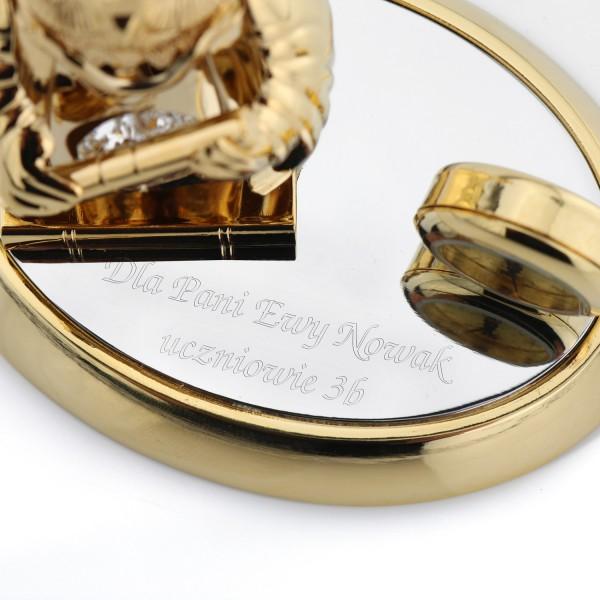 figurka sowa z kryształkami swarovski i grawerem