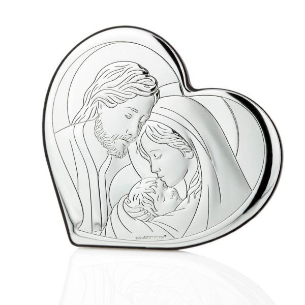 drobne upominki na komunię obrazek srebrny Święta Rodzina
