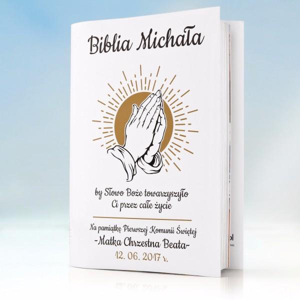 drobne upominki na komunię biblia dla dzieci