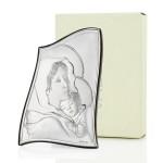 obrazek srebrny matka boska na prezent na chrzest