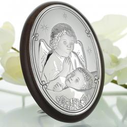srebrny obrazek z dedykacją