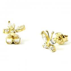elegancki złote kolczyki dla dziewczynki