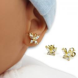 kolczyki w kształcie motylka dla dziewczynki