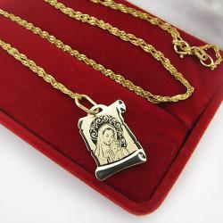 medalik z łańcuszkiem na komunię