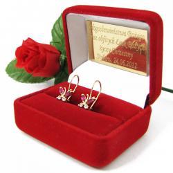 kolczyki prezent dla dziewczynki z personalizacją