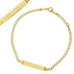 złota bransoletka pr. 585 z grawerem imienia
