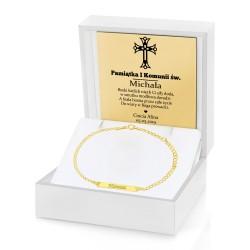 bransoletka na komunie dla dziewczynki w pudełku z grawerem