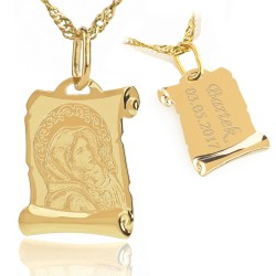 medalik ze złota z grawerem