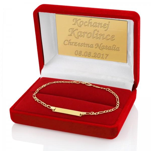 biżuteria złota na prezent na chrzest