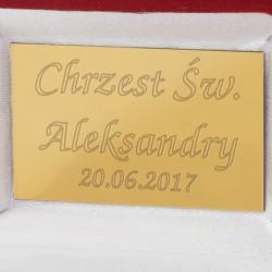 złota biżuteria na prezent dla dziewczynki na chrzest