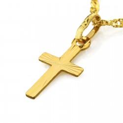 krzyżyk ze złota pr. 585 z łańcuszkiem