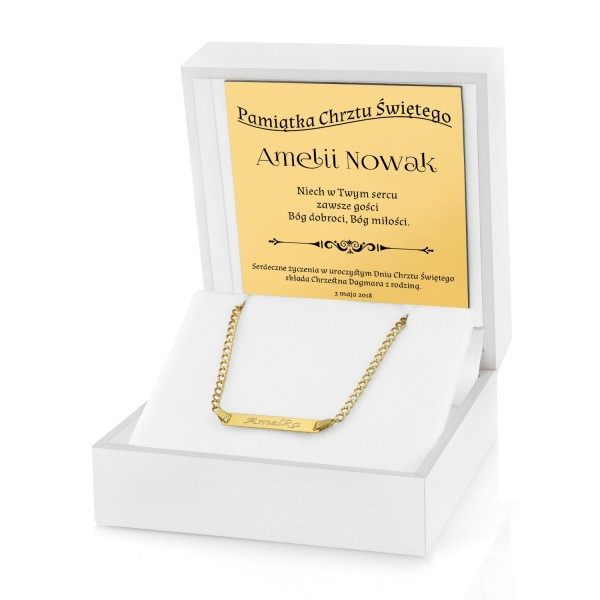 biżuteria na prezent na chrzest święty
