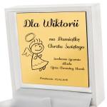 złota bransoletka na prezent na chrzest