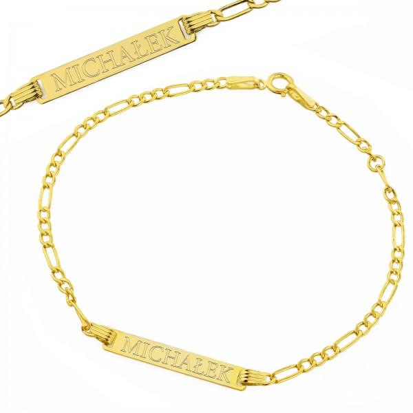 spersonalizowana złota bransoletka pr. 585