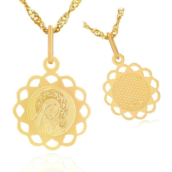 złoty medalik dla dziecka
