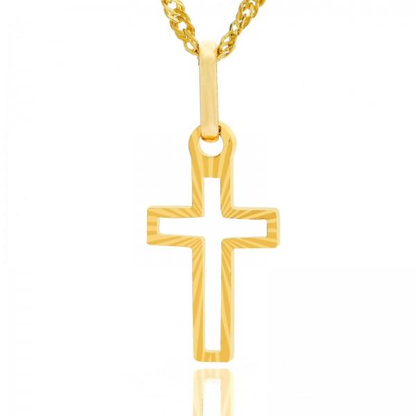 złoty krzyżyk pr. 585 w etui