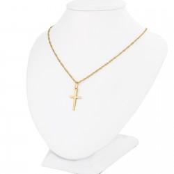 komplet złotej biżuterii na prezent na chrzciny
