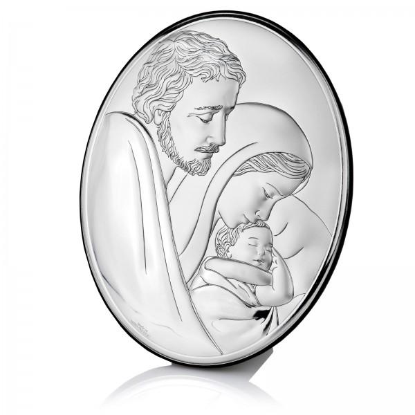 srebrny obrazek Święta Rodzina