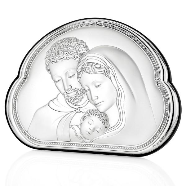 srebrny obrazek święta rodzina na wyjątkowy prezent