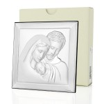święta rodzina obraz srebrny