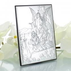 srebrny obrazek na prezent