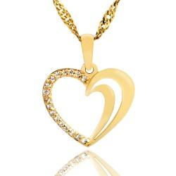 złote serce pr. 585 z grawerem dedykacji