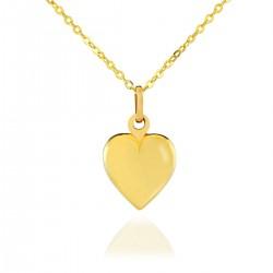złote serduszko biżuteria dla dziewczynki na komunię