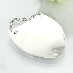srebrny ryngraf na masie perłowej z grawerem