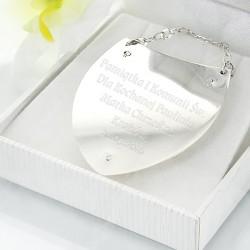 personalizowany srebrny ryngraf w pudełku