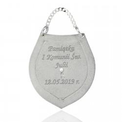 srebrny ryngraf z grawerem