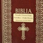 personalizowana biblia z grawerem na komunię