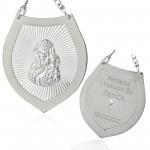 srebrny ryngraf na łańcuszku z grawerem