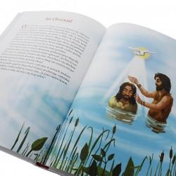 biblia z dedykacją na prezent komunijny