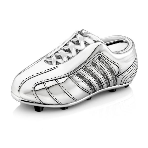 pamiątka komunijna skarbonka ze srebra but piłkarski