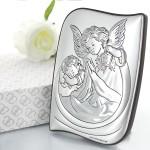 personalizowany obrazek  z aniołem stróżem na komunię