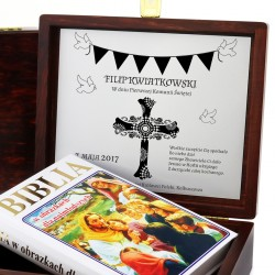 personalizowana biblia z okazji I Komunii