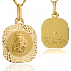 medalik komunijny z grawerem
