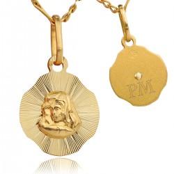 medalik ze złota 585 na prezent