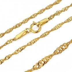 złoty łańcuszek 585 splot singapur