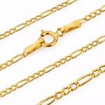 złoty łańcuszek pr. 585 splot figaro