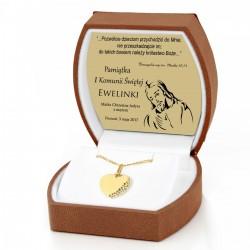 personalizowana złota biżuteria na pamiątkę pierwszej komunii świętej