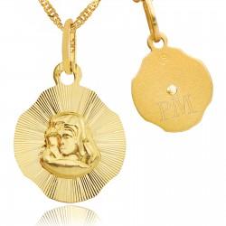 medalik na komunię z grawerem
