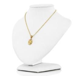 złoty łańcuszek z medalikiem na pamiątkę komunii świętej