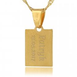grawer na złotym medaliku
