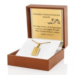 złoty medalik na prezent dla dziewczynki