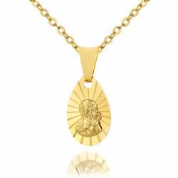 złoty łańcuszek z medalikiem z Matką Boską