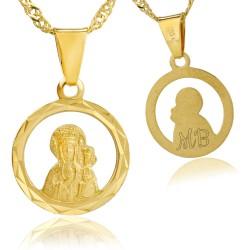 złoty łańcuszek z medalikiem 585 z grawerem