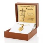 złota biżuteria na prezent na komunię