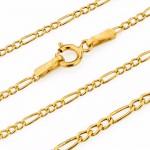 złoty łańcuszek 585 figaro